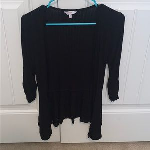 Candies black ribbed cardigan size XS